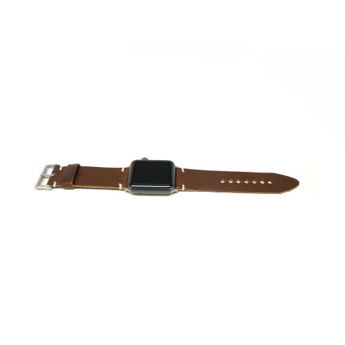 Leather Apple Watch Strap - Brown Chromexcel