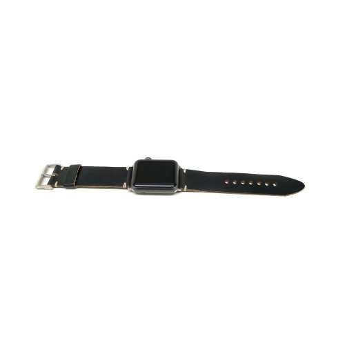 Leather Apple Watch Strap - Black Chromexcel