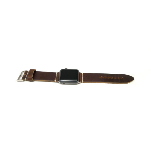 Leather Apple Watch Strap - Brown Chromexcel (Thick)
