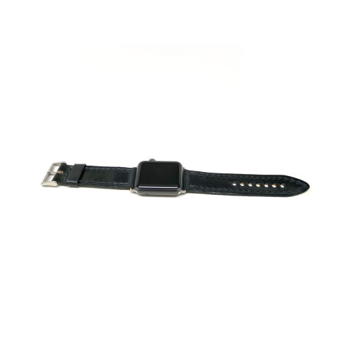 Leather Apple Watch Strap - Black Shell Cordovan
