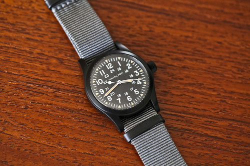 Hamilton Field Khaki Watch - Black