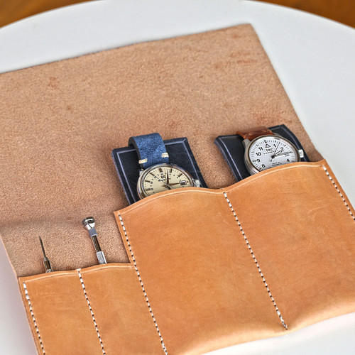 Watch Travel Case - Natural Essex
