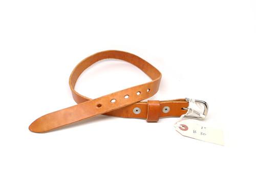 "Handmade 1"" Leather Belt Size 30 - Natural (B)"