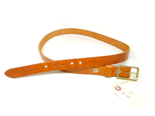 "Handmade 1"" Leather Belt Size 42 - Natural (B)"