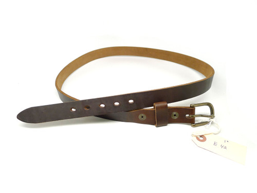 "Handmade 1"" Leather Belt Size 42 - Brown Chromexcel (E)"