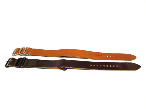 22mm Horween Shell Cordovan Strap 2x Pack - Set 22-20