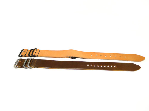 22mm Horween Shell Cordovan Strap 2x Pack - Set 22-27