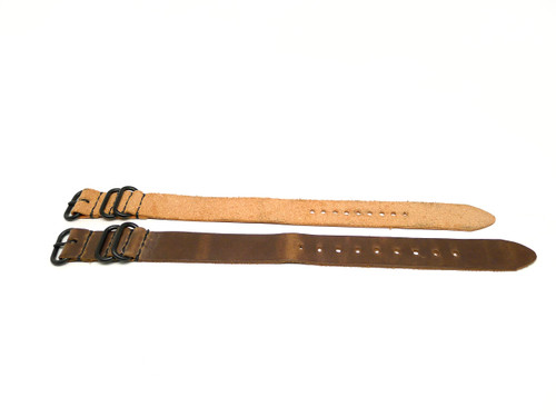 22mm Horween Leather Strap 2x Pack - Set 22-32