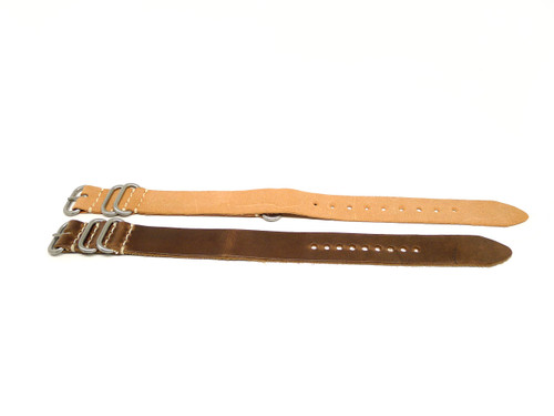 22mm Horween Leather Strap 2x Pack - Set 22-33