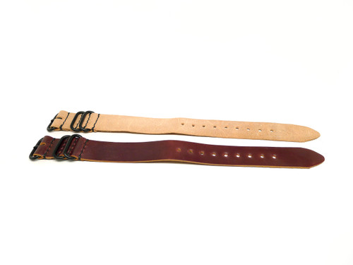 24mm Horween Shell Cordovan Strap 2x Pack - Set 24-12
