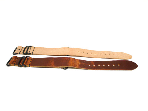 24mm Horween Leather Strap 2x Pack - Set 24-24
