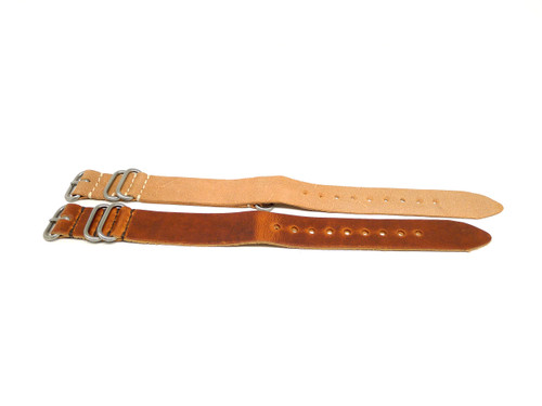 24mm Horween Leather Strap 2x Pack - Set 24-32