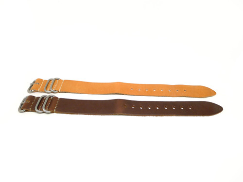24mm Horween Leather Strap 2x Pack - Set 24-37