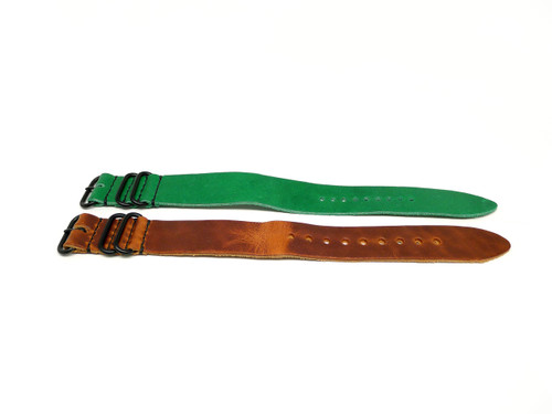 26mm Horween Leather Strap 2x Pack - Set 26-4