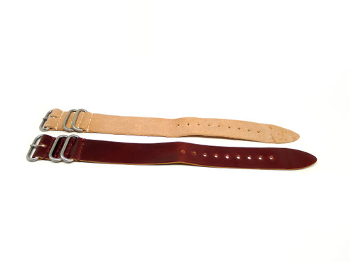 26mm Horween Shell Cordovan Strap 2x Pack - Set 26-33