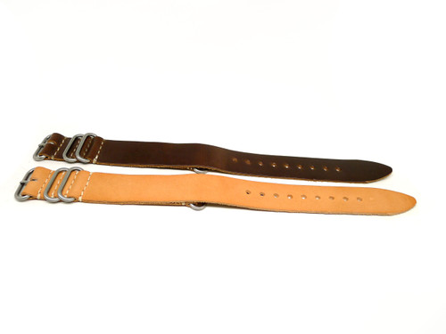26mm Horween Leather Strap 2x Pack - Set 26-34