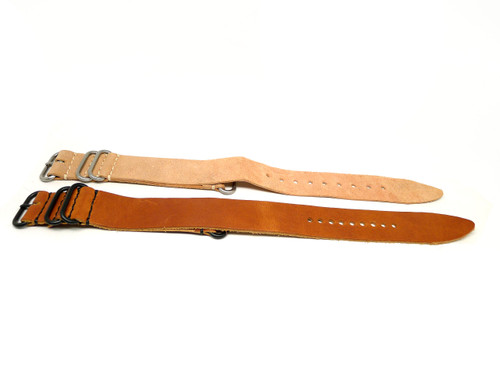 26mm Horween Leather Strap 2x Pack - Set 26-35