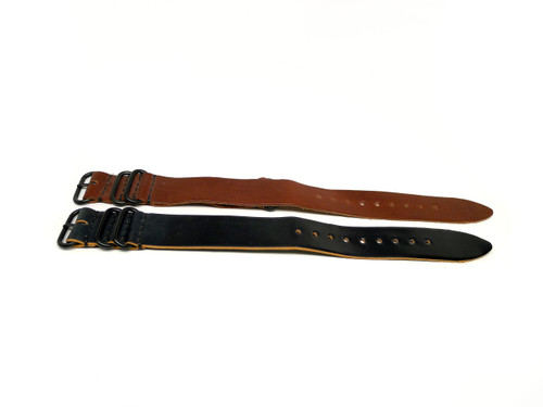 26mm Horween Shell Cordovan Strap 2x Pack - Set 26-36