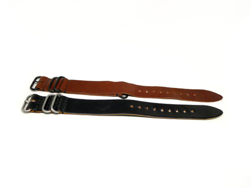 26mm Horween Shell Cordovan Strap 2x Pack - Set 26-37