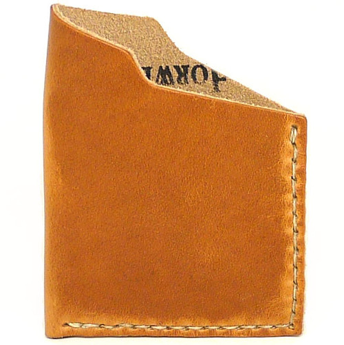 Leather Angle Wallet - Natural Dublin