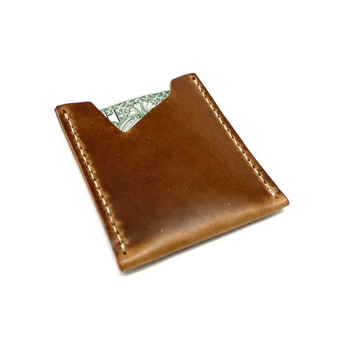 Leather Stash Wallet - Natural Chromexcel