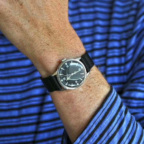 Two Piece Ballistic Nylon Watch Strap - Black