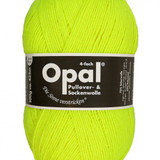 Opal Uni Solid 4-ply Sock Yarn in neon shades