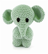 Hoooked Mo the Elephant crochet kit using Eco Barbante yarn
