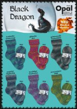 Opal Black Dragon 4-ply sock yarn