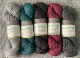 Five colour yarn pack of fingering weight yarn
