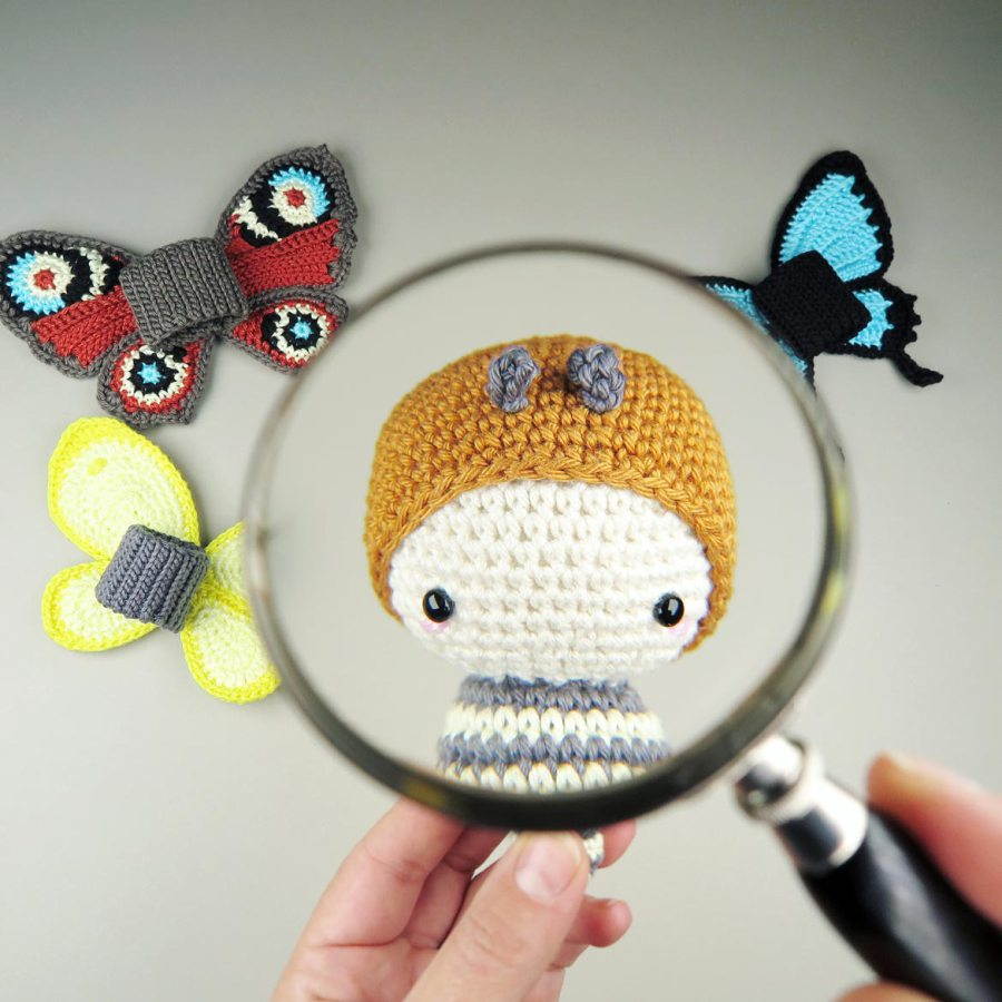 My red hair oval face female prototype for my Amigurumi Design ... | 900x900