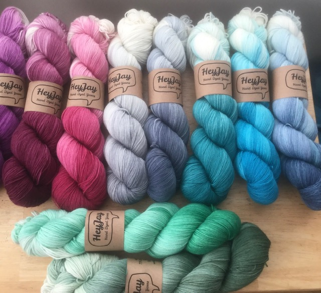 Hey Jay Merino Sock yarn bundle