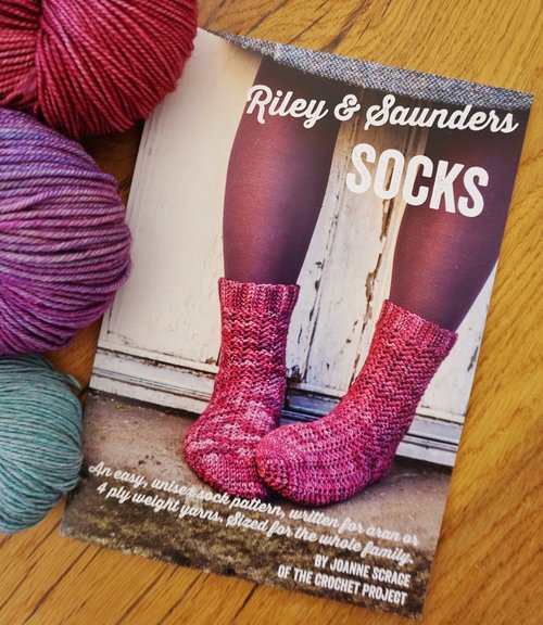 Riley and Saunders crochet sock patterns