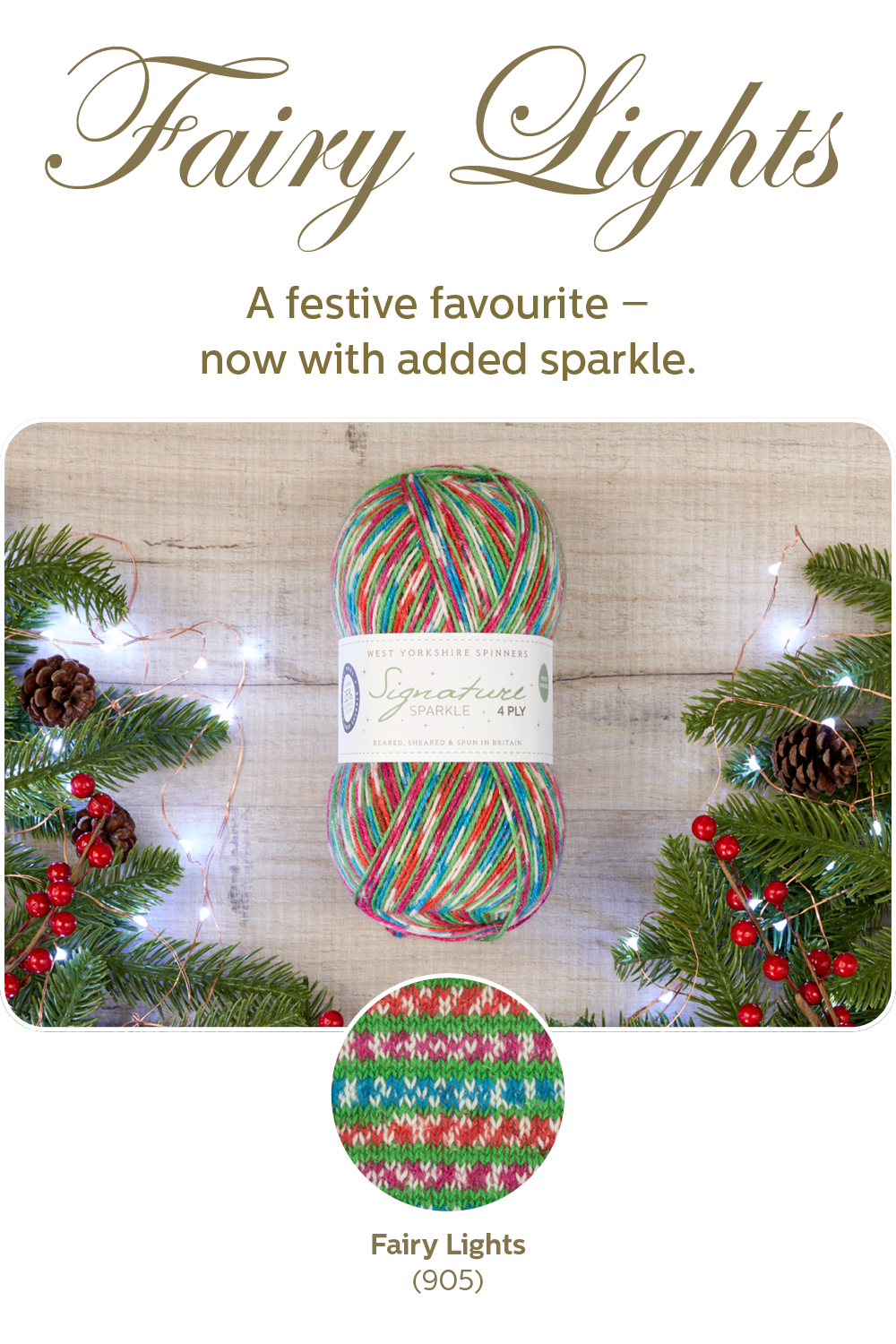 Signature 4-ply sparkle in Fairy Lights from West Yorkshire Spinners