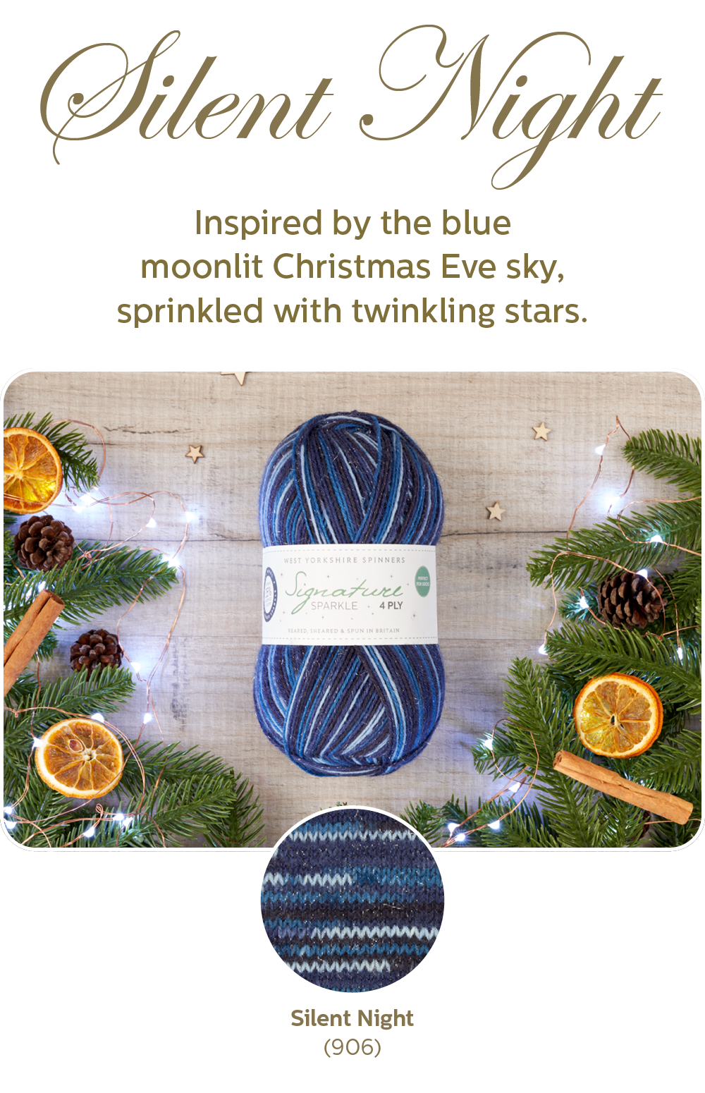 Signature 4-ply sparkle in Silent Night from West Yorkshire Spinners