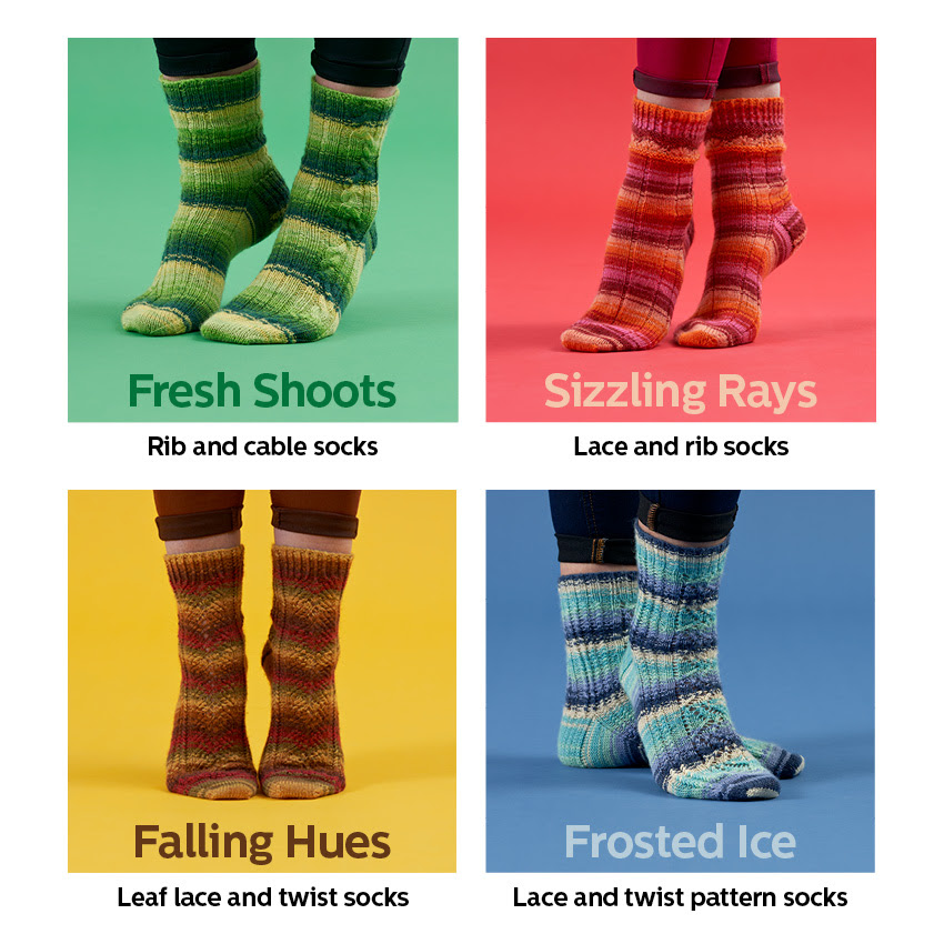 Signature 4-ply : Seasons Socks Collection  by Winwick Mum