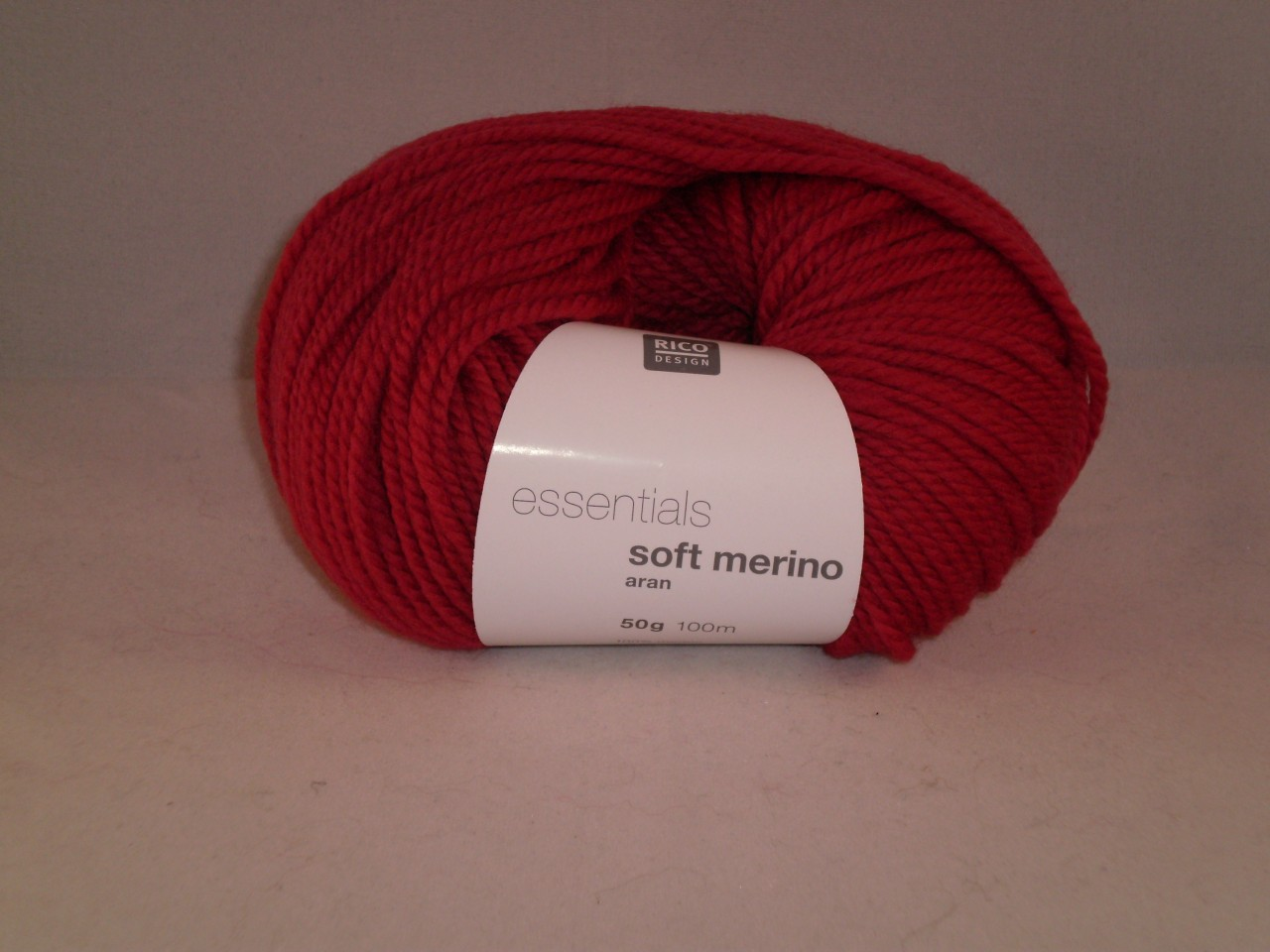 Rico Essentials Soft Merino Aran in Brick Red