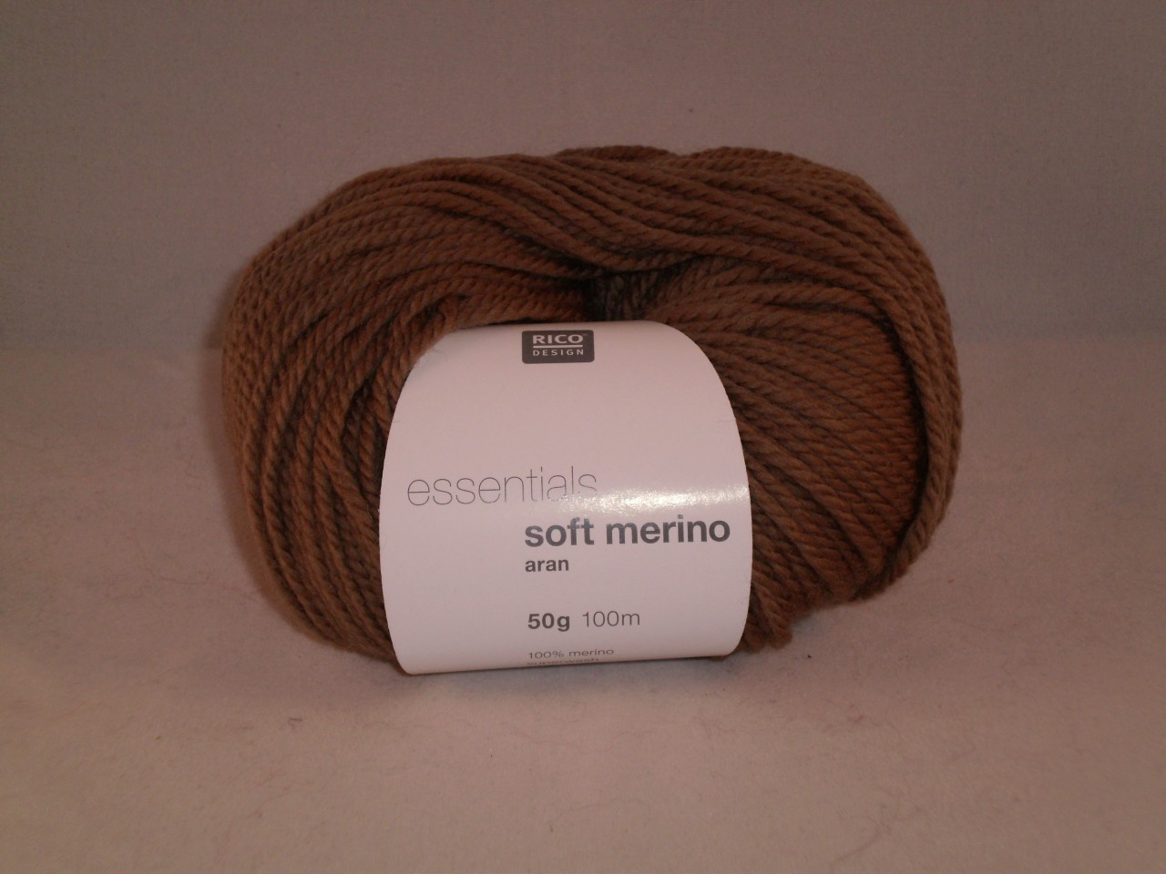 Rico Essentials Soft Merino Aran in Mid Brown