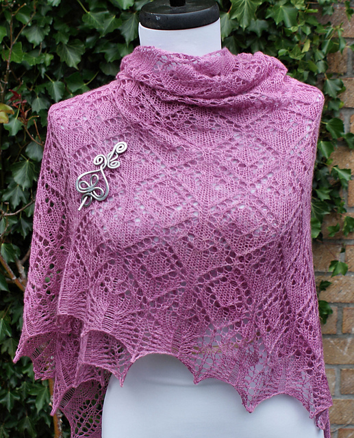 Candace Lace Shawl Pattern by Anniken Allis