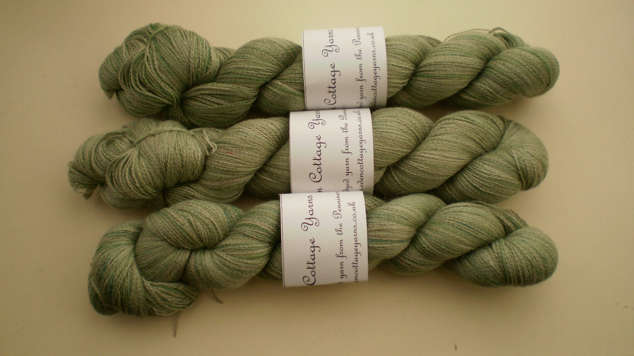 Eden Cottage Pegasus Lace Yarn in Laurel/Fresh Leaves