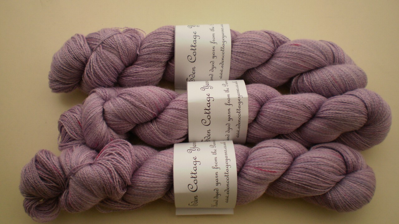 Eden Cottage Pegasus Lace Yarn in Wisteria