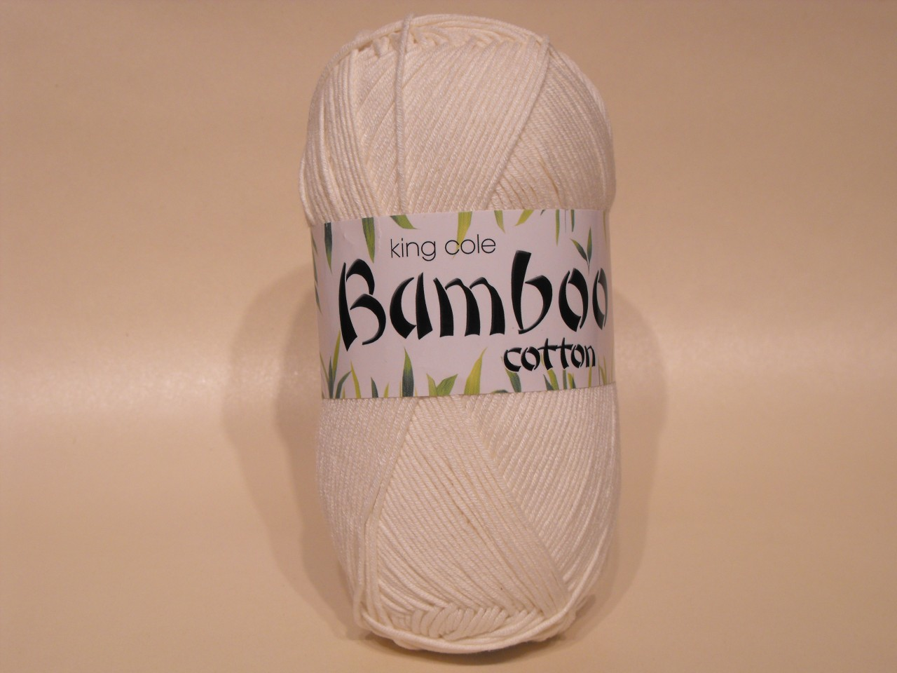 King Cole Bamboo Cotton Double Knit yarn in Cream