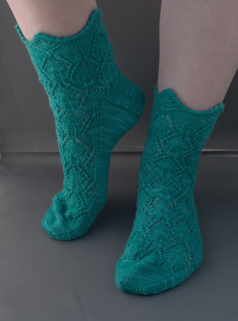 Gothic Architecture Socks Pattern