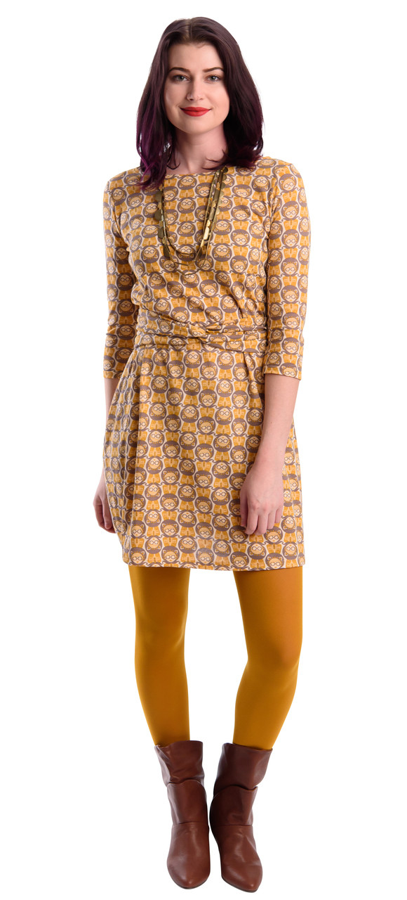 Yellow Belted Dress