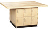 """Diversified Woodcrafts 4-Station Work Bench w/12 Lockers with 4 Wilton Vises (7"""")"""