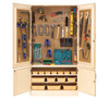 """Diversified Woodcrafts 48"""" Tech Ed Tool Cabinet with Tools"""