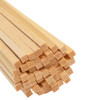 "Bud Nosen Basswood Strips, 1/8"" x 1/8"" x 24"", 50/pkg."
