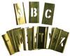 """Young Bros. Brass Interlocking Stencils 33-Piece Letter Set, 2"""""""