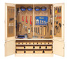 "Diversified Woodcrafts 60"" Building Trades Tool Cabinet with Tools"