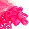 ABS Rear Dragster Wheels, Neon Pink